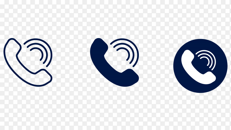 Call logo on transparent background PNG