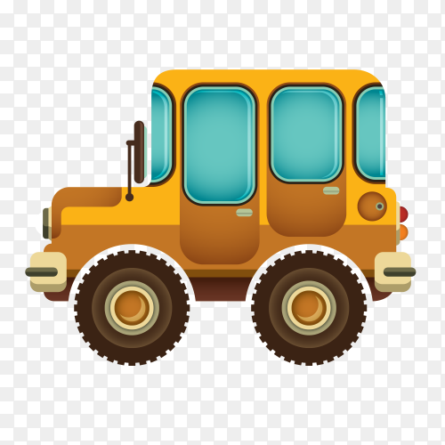 Car Traveling illustration on transparent background PNG