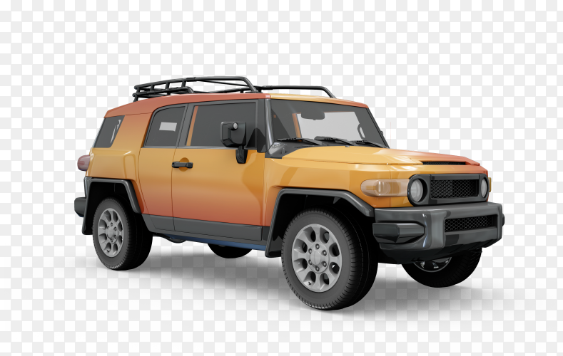 Car jeep on transparent background PNG