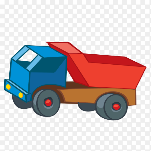 Car toy cartoon on transparent background PNG