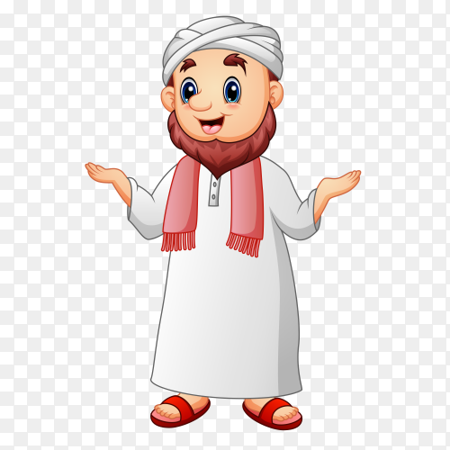 Cartoon Muslim man Clipart PNG