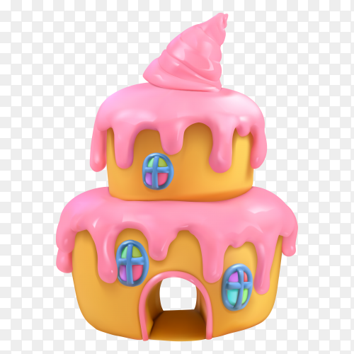 Cartoon delicious cake Clipart PNG