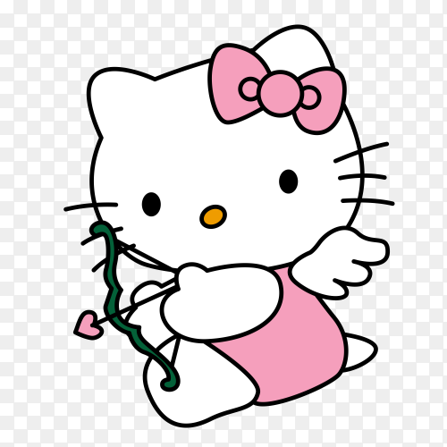 Cartoon hello kitty clipart PNG