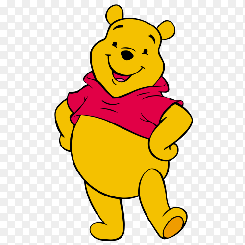 Cartoon pooh Premium vector PNG