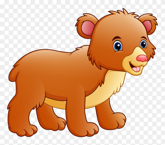 Cartoon small dog on transparent background PNG