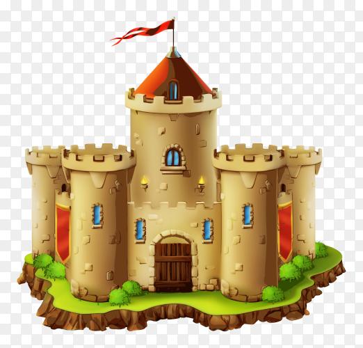 Castle on transparent background PNG