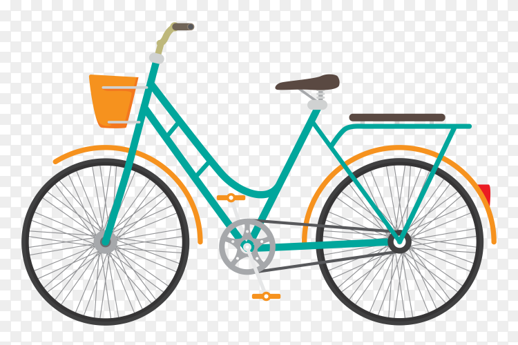 Classic bicycle on transparent background PNG
