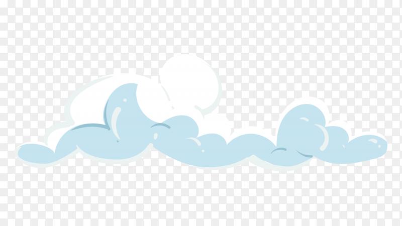 Cloud in sky vector PNG