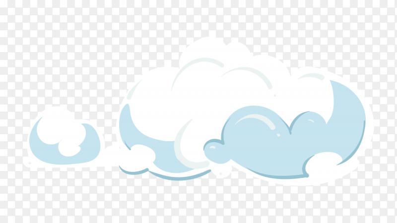 Cloud in sky premium vector PNG