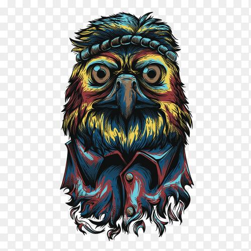 Colorful Eagle on transparent background PNG