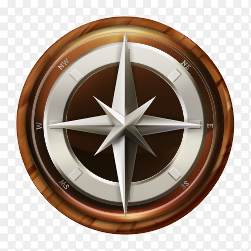 Compass design on transparent PNG