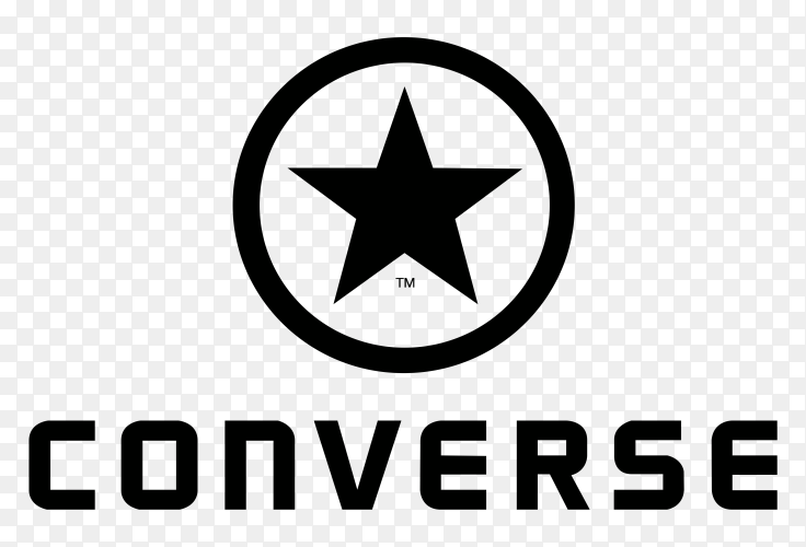 Converse Logo design on transparent background PNG