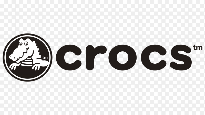 Crocs logo design on transparent background PNG