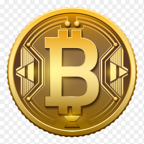 Currency Bitcoin on transparent background PNG