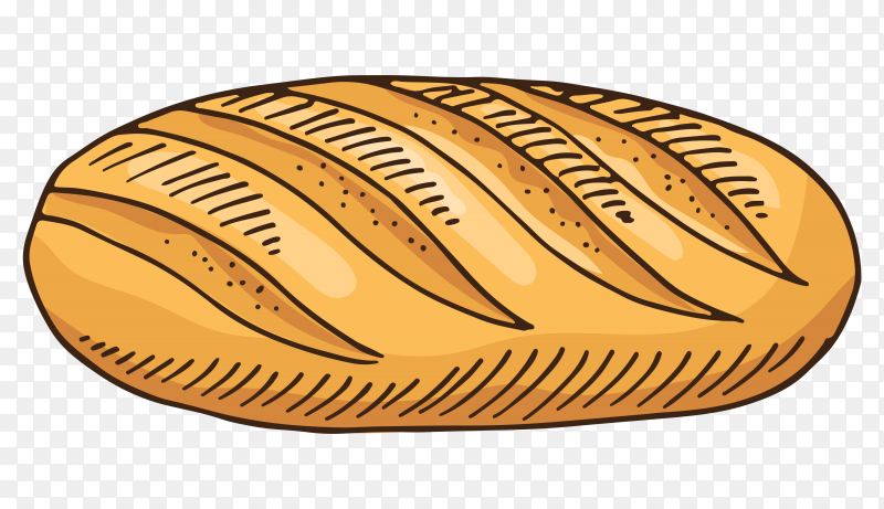 Delicious bread on transparent background PNG
