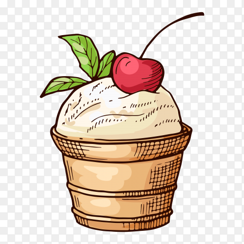 Delicious cupcake vector PNG