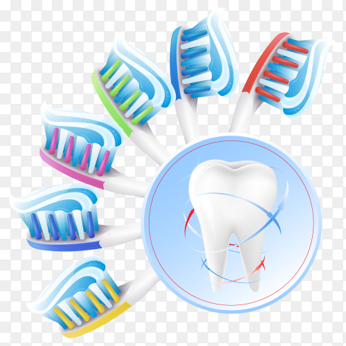 Dental care poster on transparent background PNG