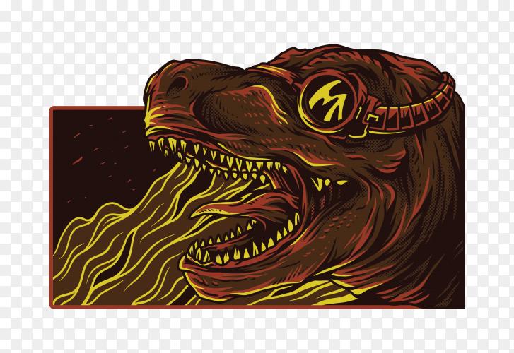 Dinosaur Illustration on transparent background PNG