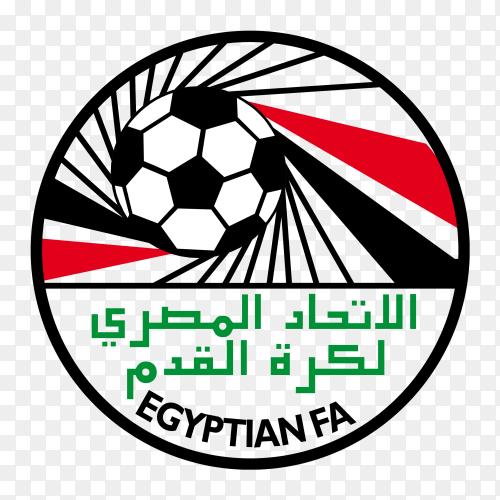 Egyptian Football Association logo on transparent background PNG