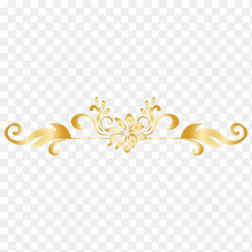 Elegant ornamental Floral Clipart PNG