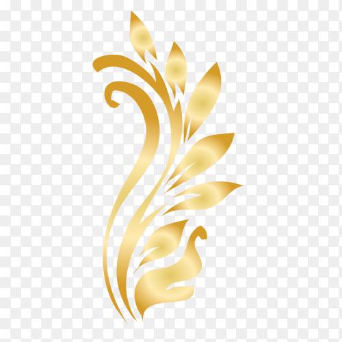 Elegant ornamental Floral premium vector PNG