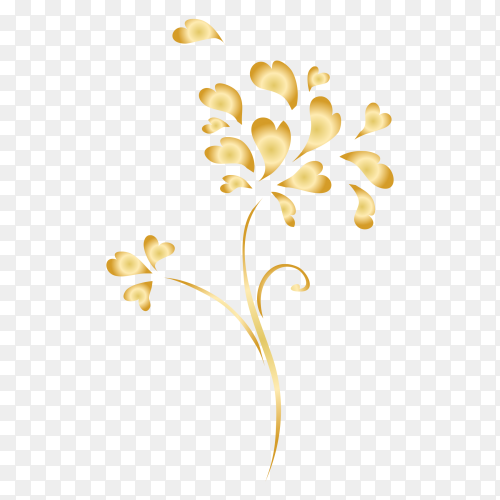 Elegant ornamental Floral vector PNG