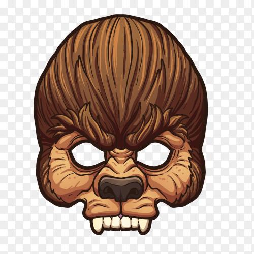 Evil Gorilla Skull on transparent Background PNG