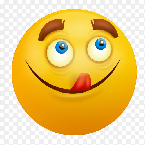 Face Savoring Food emoji vector PNG