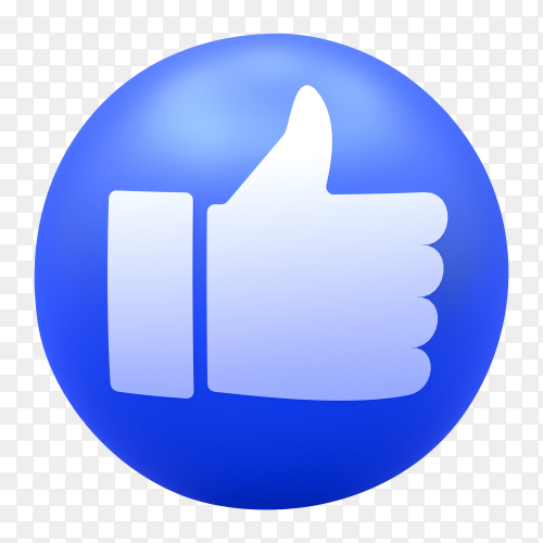 Facebook Like icon Premium vector PNG