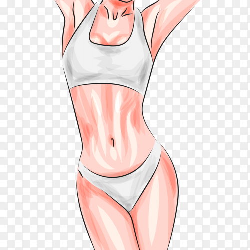 Female fitness on transparent  PNG