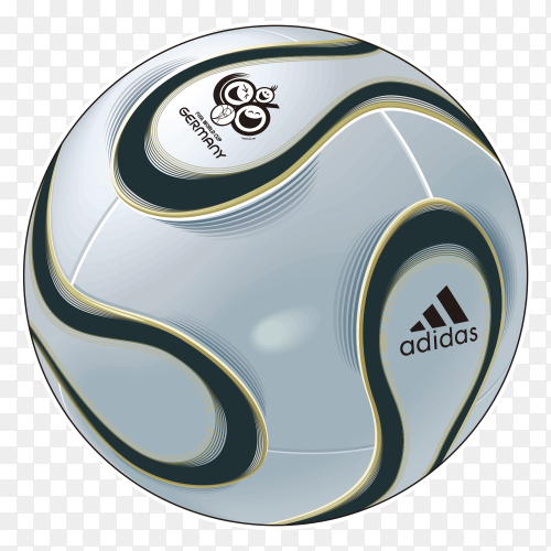 Football on transparent background PNG