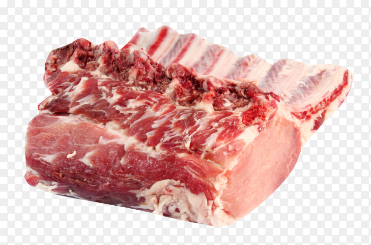 Fresh meat on transparent PNG