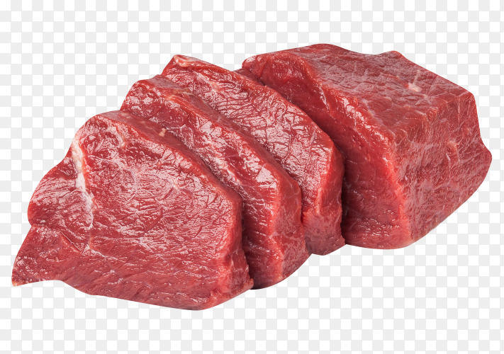Fresh meat on transparent background PNG