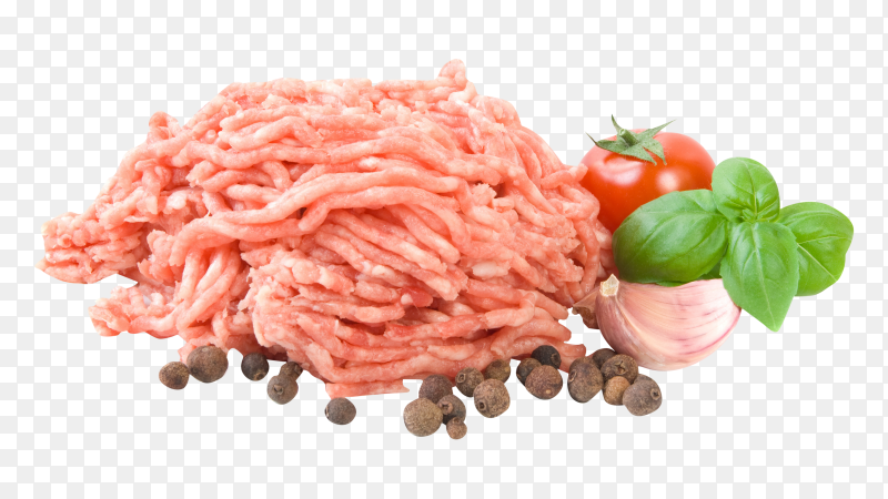 Fresh minced meat on transparent background PNG