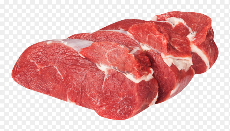 Fresh slices meat on transparent background PNG