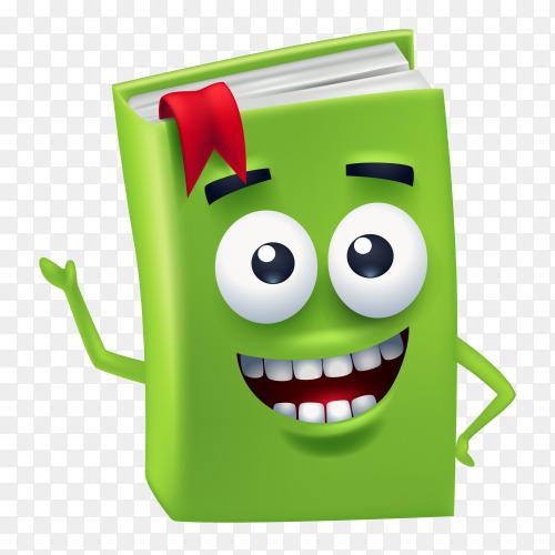 Funny cartoon book Premium vector PNG