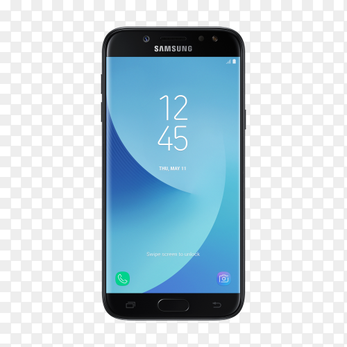 Galaxy j5 front black mobile phone Premium image PNG