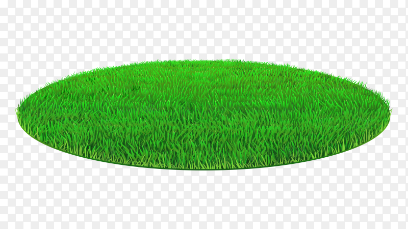 Geen lawn grass oval Clipart PNG