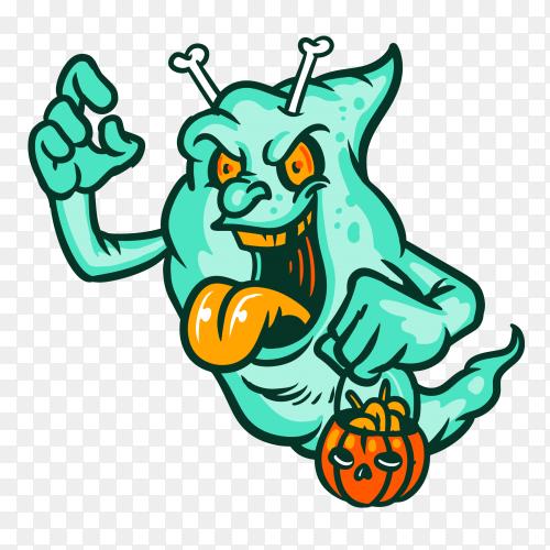 Ghosts lime Illustration on transparent background PNG