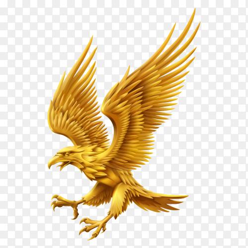 Golden Eagle on transparent background PNG