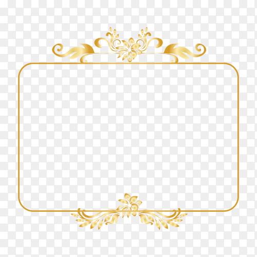 Golden frame premium vector PNG