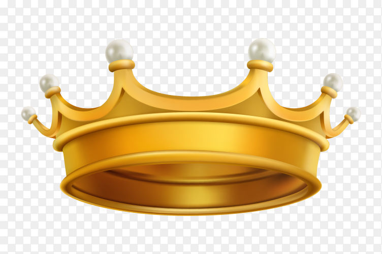Goldn Crown on transparent background PNG