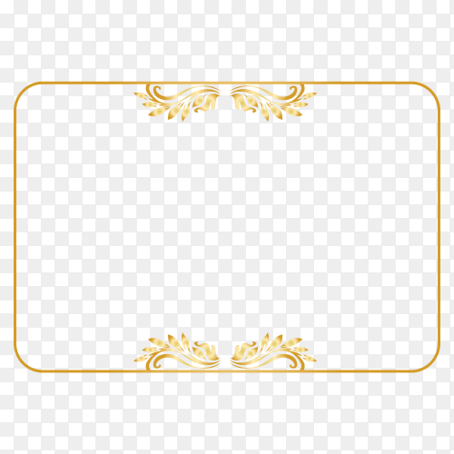 Golen frame design premium vector PNG