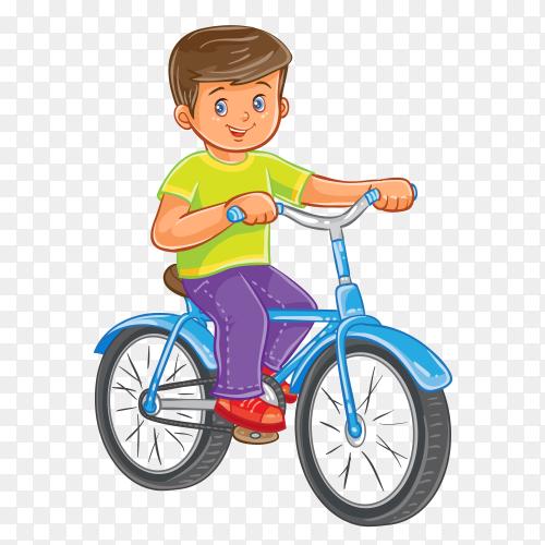 Good boy Riding A bike on transparent background PNG