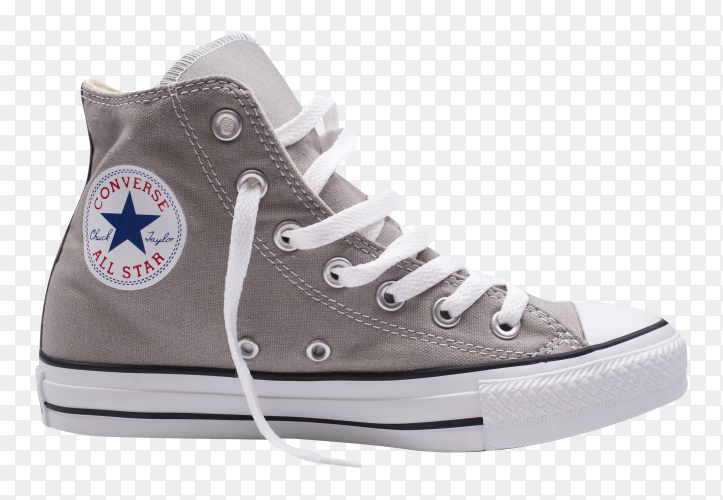 Gray converse on transparent background PNG