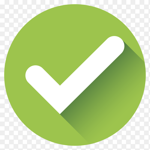 Green Correct check mark Premium vector PNG