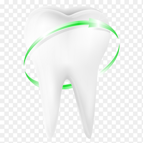 Green Protective vortex around tooth Clipart PNG