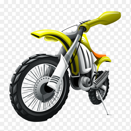 Green motorcycle isolated premium vector PNG