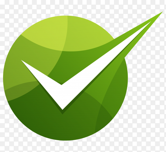 Green right check mark icon clipart PNG