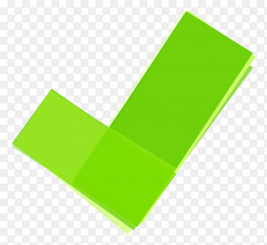 Green right mark icon Premium vector PNG